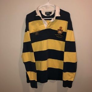 Polo Ralph Lauren Blue/ Yellow Striped Rugby Shirt